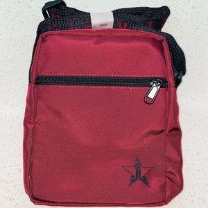 Jeffree Star cosmetics Maroon Crossbody bag